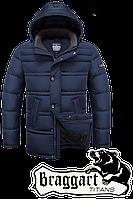 Мужская теплая зимняя куртка батал Braggart (р. 56-60) арт. 2465