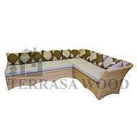 Модульный диван Аттика из vip ротанга на 10 человек мэланж