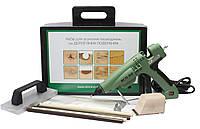 Набір для ремонту деревини. Термошпаклівка з допоміжними інструментами, фото 1