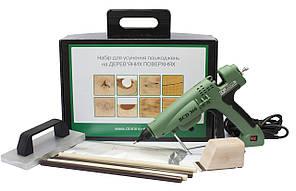 Набір для ремонту деревини. Термошпаклівка з допоміжними інструменами