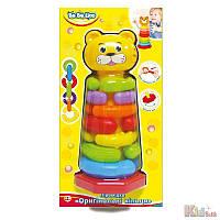 Детская игрушка-пирамидка «Оригинальные кольца» BeBeLino 5060249456124