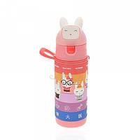 Детская бутылочка 702.1 пластиковая розового цвета