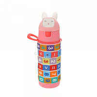 Детская бутылочка 704.1 пластиковая розового цвета