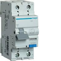 Дифференциальный автоматический выключатель 1P+N 6kA C-16A 10mA A HAGER