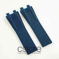 Каучуковый ремешок для часов Ulysse Nardin el toro dual time blue (05971)