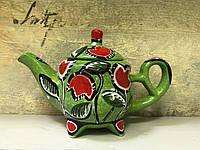 Чайник керамический расписной Тюльпаны