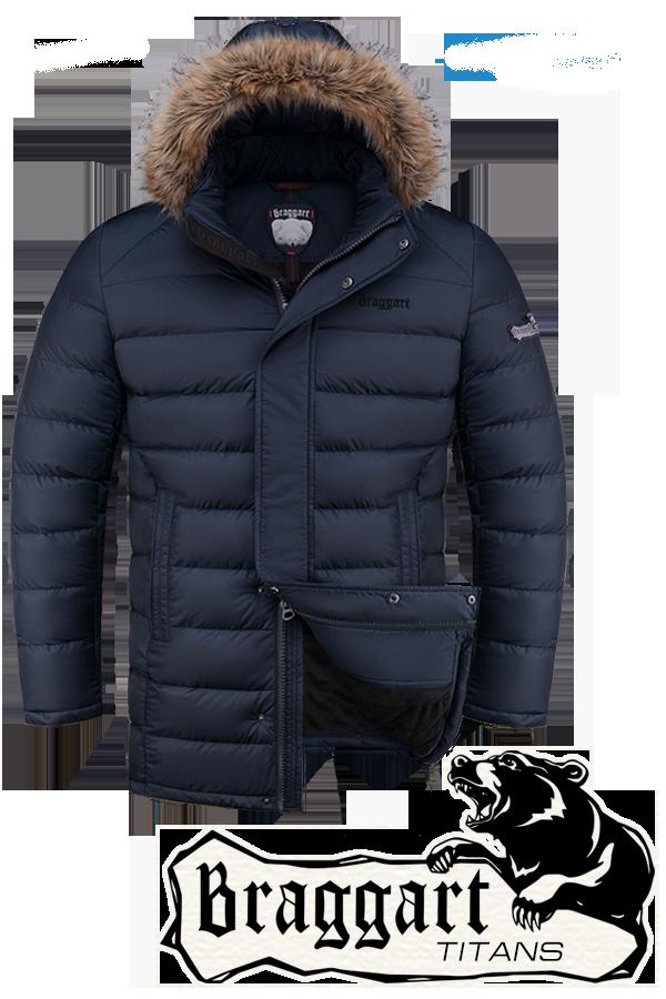 Мужская зимняя куртка парка больших размеров Braggart арт. 2852