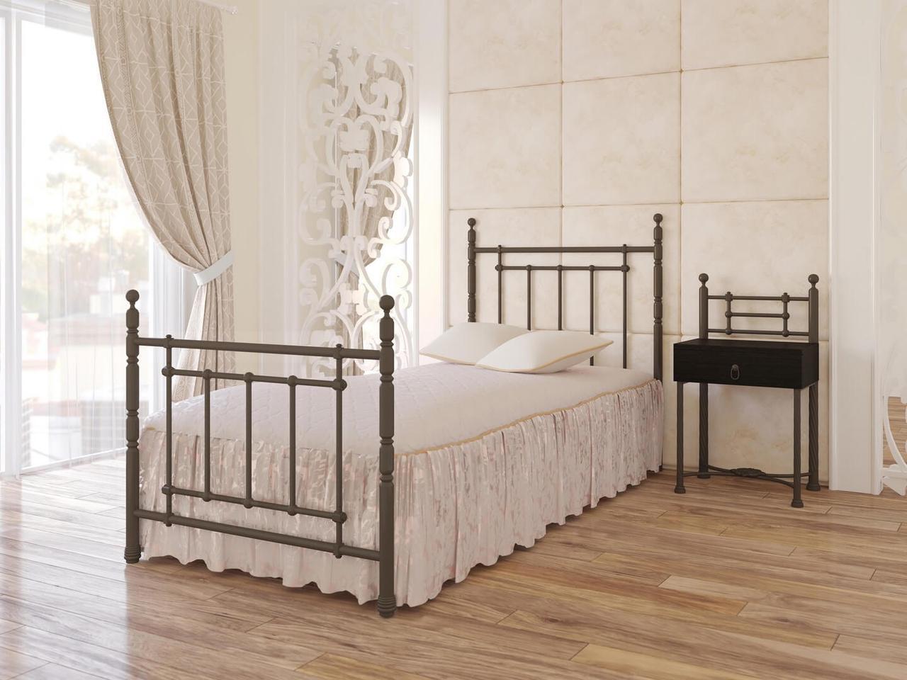 Ліжко коване в спальню Неаполь(міні) Метал-Дизайн
