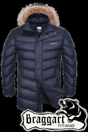 Мужская зимняя куртка большого размера арт. 1845, фото 2