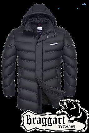 Мужская удлиненная зимняя куртка больших размеров Braggart арт. 2445, фото 2