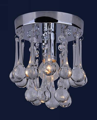Потолочный стеклянный светильник (77-8007-1 CR), фото 2