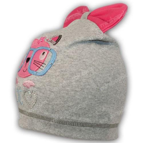 детская трикотажная шапка с бантом
