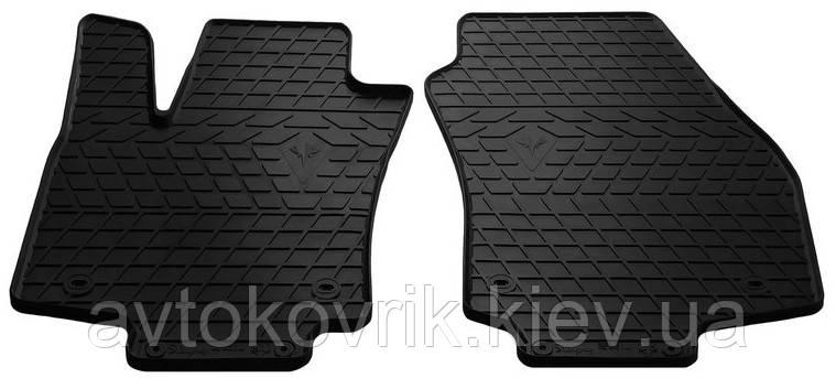 Резиновые передние коврики в салон Opel Astra H 2004-2014 хетчбэк (STINGRAY)
