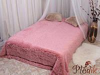 Плед меховой с длинным ворсом 220х230, Alltex розовый