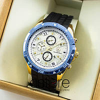 Мужские наручные часы Mercedes Benz gold white blue (06520)