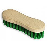 Щетка деревянная для одежды, обуви (мягкая щетина)