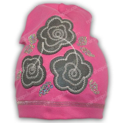шапка для девочки из трикотажа