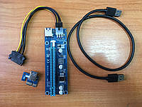 РАЙЗЕР Riser PCI - E 1X на 16X с кабелем USB 3.0 ver 006