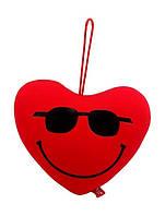 Мягкая антистрессовая игрушка Сердце в очках
