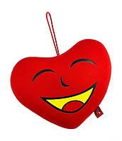 Мягкая антистрессовая игрушка Сердце с жёлтым ртом