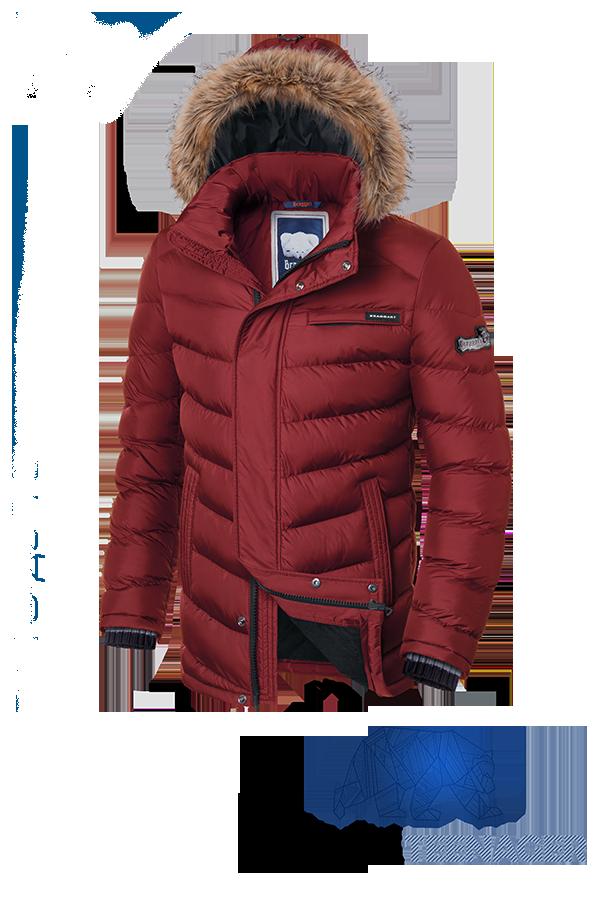 Подростковая красная куртка с мехом Braggart Teenager (р. 40-46) арт. 7723