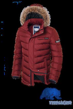 Подростковая красная куртка с мехом Braggart Teenager (р. 40-46) арт. 7723, фото 2