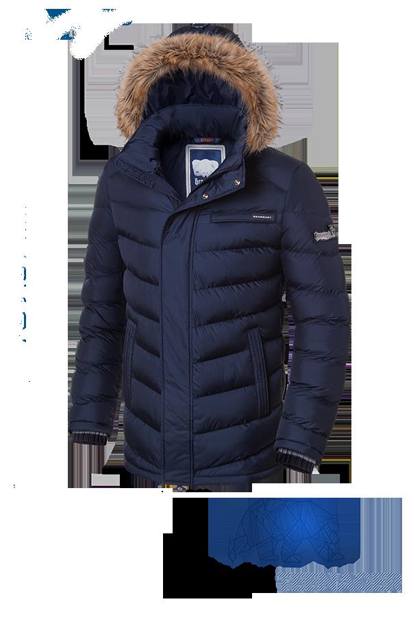 Синяя зимняя куртка на подростка Braggart Teenager (р. 38-46) арт. 7223