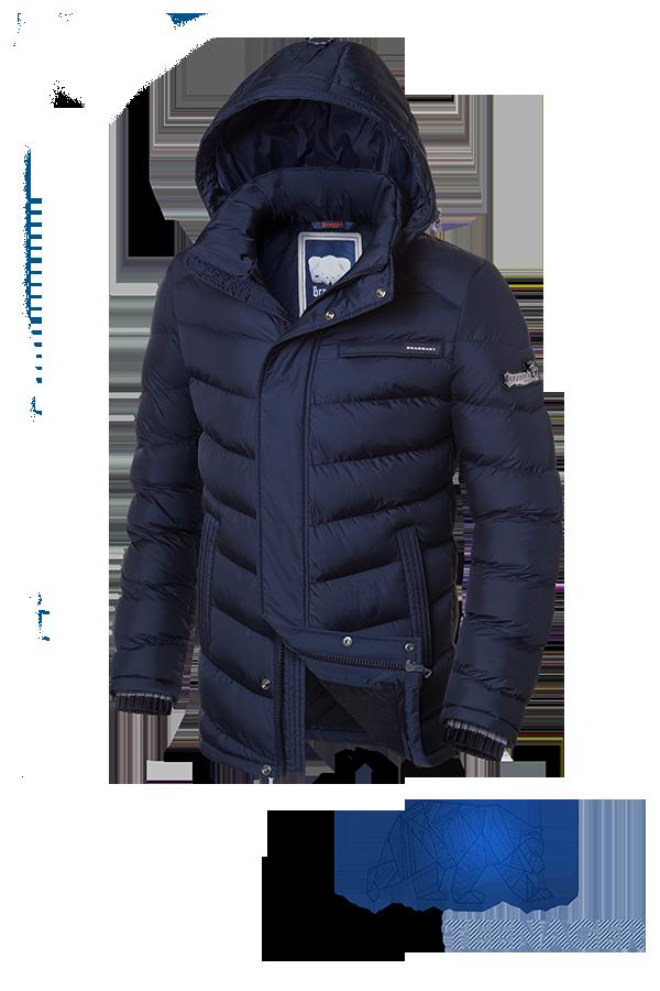 Темно-синяя зимняя куртка на подростка Braggart Teenager (р. 40-46) арт. 7823