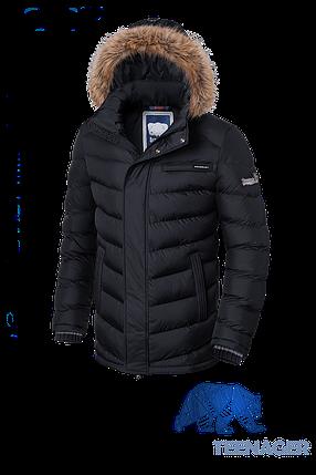 Черная зимняя куртка на подростка Braggart Teenager (р. 38-46) арт. 7223, фото 2