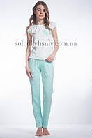 Піжама ELLEN жіноча штани+футболка М'ятна Фантазія 071/001