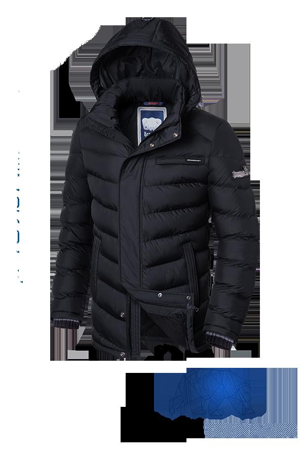 Черная зимняя куртка на подростка Braggart Teenager (р. 40-46) арт. 7823