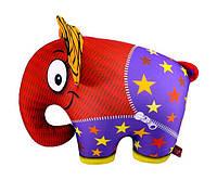 Мягкая антистрессовая игрушка Слон оранжевый
