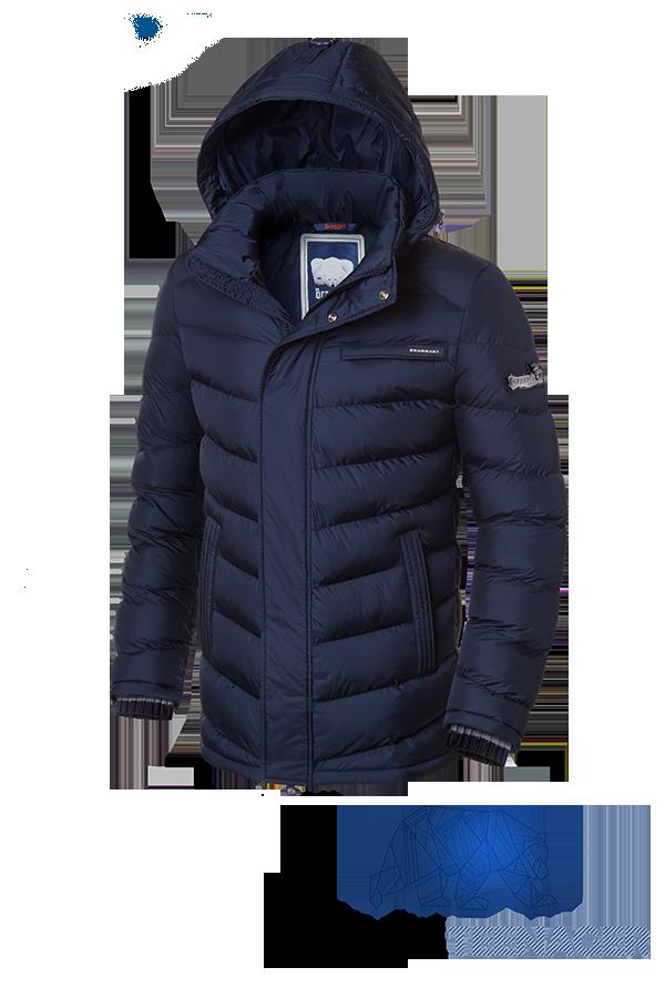 Подростковая темно-синяя зимняя куртка Braggart Teenager (р. 38-46) арт. 7923Е
