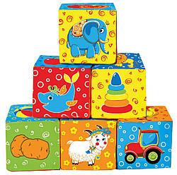 Набор мягких кубиков Мой маленький мир Vladi Toys