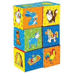 Ферма Набор мягких кубиков для малышей Vladi Toys