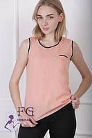 Жіноча майка-блуза персикового кольору