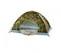 Двухместная палатка туристическая Хаки HY-1060 1.5*2м R17757. Отличное качество. Удобный дизайн. Код: КДН3170
