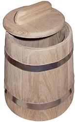 Кадка дубовая 1л для меда, муки