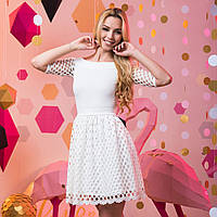 "Белое нарядное короткое платье ""Жасмин"""