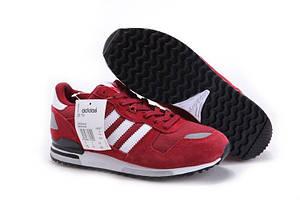 Кроссовки мужские Adidas ZX-700 Красные с белым
