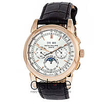 Мужские наручные механические часы Patek Philippe grand complications gold white (06719)