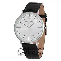 Мужские наручные часы Patek Philippe calatrava silver white (06717)