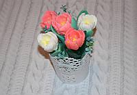 Мыло букет тюльпанов