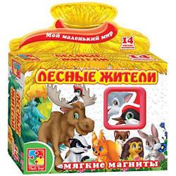 Лесные жители Мягкие магниты для детей Vladi Toys