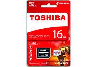 Карта памяти Toshiba EXCERIA M302 microSDHC UHS-I 16GB class10+SD адаптер
