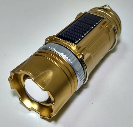Кемпинговая LED лампа SB-9688 фонарик с солнечной панелью, фото 2
