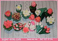 Мыло цветы.Большой асортимент