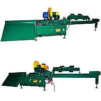 Автоматическая торцовка топливного брикета пини кей  для пресс экструдера, и линий брикетирования опилок.