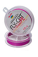 Шнур плетений NTEC Fly-Cat Pink 137м, Ø0.10мм, 2.7 кг