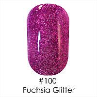 Гель-лак Naomi № 100 Fuchsia Glitter ,6 мл